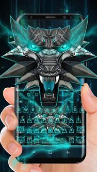 3D Iron Wolf Keyboard Theme poster
