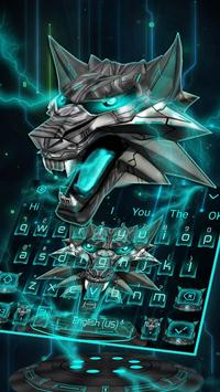 3D Iron Wolf Keyboard Theme screenshot 1