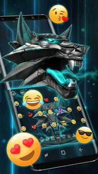 3D Iron Wolf Keyboard Theme screenshot 2