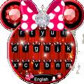Cute Pink Minny Bowknot Keyboard Theme