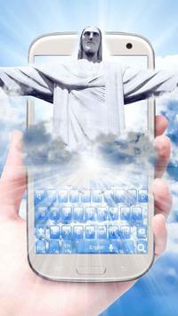 3D Live Jesus Christ Keyboard poster