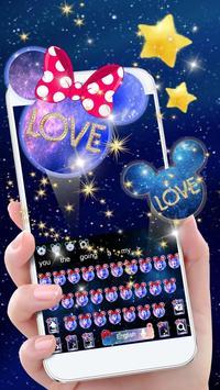 Galaxy Glitter Bow Minnies Keyboard poster