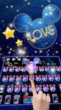 Galaxy Glitter Bow Minnies Keyboard screenshot 1