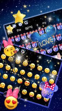 Galaxy Glitter Bow Minnies Keyboard screenshot 2