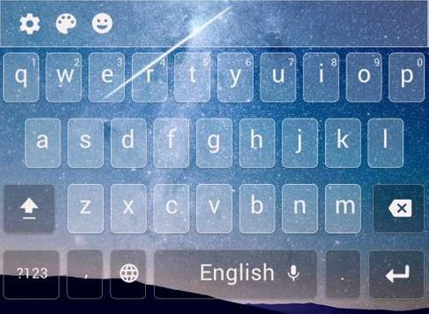 gorgeous starry sky keyboard poster