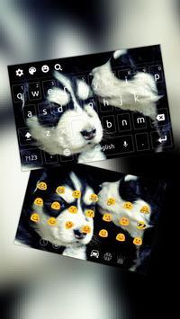 Black White Cool Dog Keyboard poster