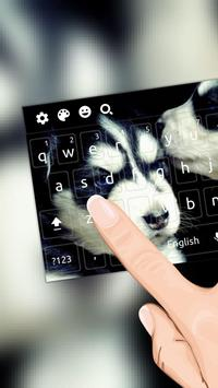 Black White Cool Dog Keyboard screenshot 1