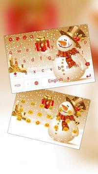 Christmas Snowman Keyboard Theme poster