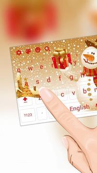 Christmas Snowman Keyboard Theme screenshot 1