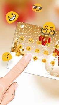 Christmas Snowman Keyboard Theme screenshot 2