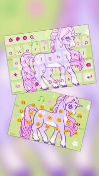 Pink Purple Stylish Unicorn Keyboard poster