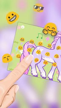 Pink Purple Stylish Unicorn Keyboard apk screenshot