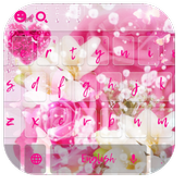 Heart Pink Crystal Rose Keyboard icon