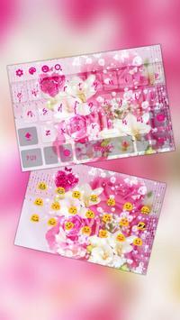 Heart Pink Crystal Rose Keyboard poster