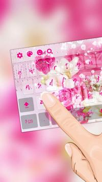 Heart Pink Crystal Rose Keyboard screenshot 1