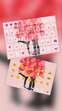 Red Balloon Romantic Valentine Keyboard Theme poster