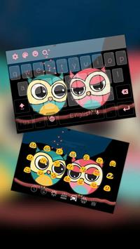 Cute Colorful Owl Keyboard Theme poster