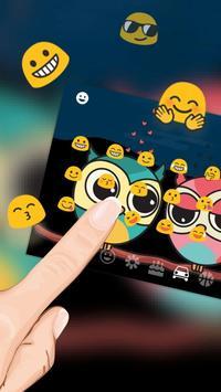 Cute Colorful Owl Keyboard Theme apk screenshot