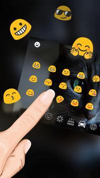 Cheshire Dark Kitty Devil Keyboard Theme screenshot 2