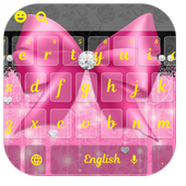 Pink Bowknot Diamond Keyboard Theme icon
