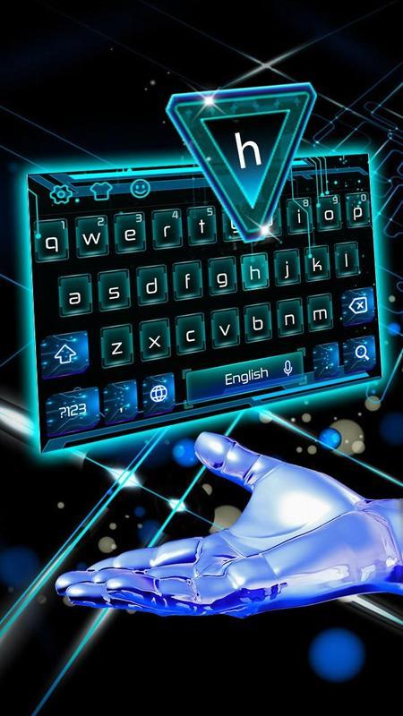 3D Neon Hologram Typewriter Keyboard Theme APK Baixar ...