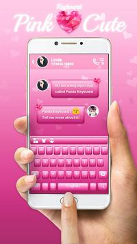Pink Cute Keyboard Theme poster