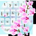 Orchid Flower Keyboard Theme
