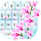 Orchid Flower Keyboard Theme icon