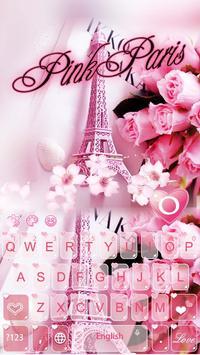 Pink Sweet Paris Tower Keyboard poster