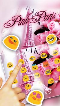 Pink Sweet Paris Tower Keyboard apk screenshot
