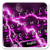 Purple Thunder Light Keyboard icon