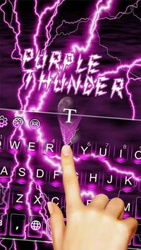 Purple Thunder Light Keyboard apk screenshot