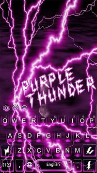 Purple Thunder Light Keyboard poster