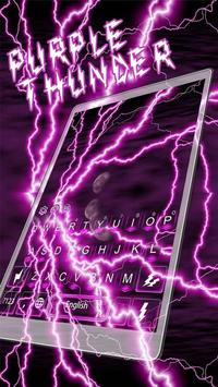 Purple Thunder Light Keyboard apk screenshot