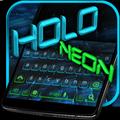 Holo Keyboard Black Tech Theme