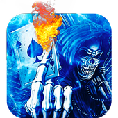 flame Death Skeleton Theme 3d icon