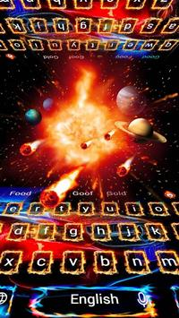 Fire Sports Car Space Future Keyboard Theme poster