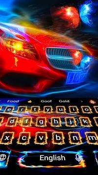 Fire Sports Car Space Future Keyboard Theme apk screenshot