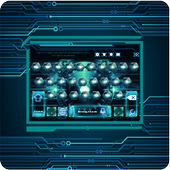 Install App android Shiny Green Circuit Keyboard APK 3d