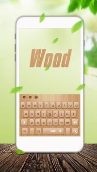 Wood keyboard poster