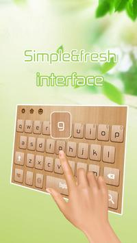 Wood keyboard apk screenshot
