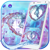 Colorful Water Love Heart Keyboard icon