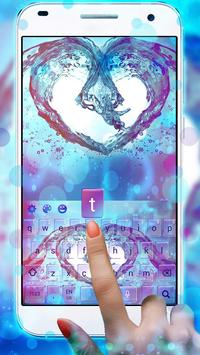 Colorful Water Love Heart Keyboard poster