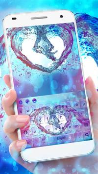 Colorful Water Love Heart Keyboard apk screenshot