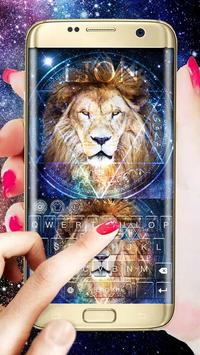 King Lion(Leo) Keyboard Theme screenshot 1