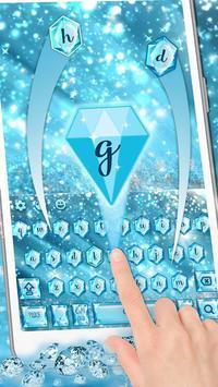 Blue Nile diamond emoji Keyboard Theme poster
