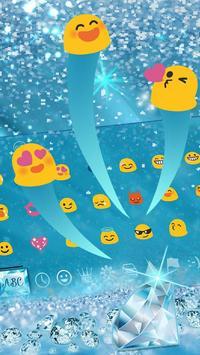 Blue Nile diamond emoji Keyboard Theme screenshot 1