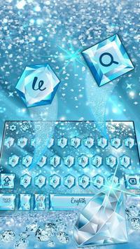 Blue Nile diamond emoji Keyboard Theme screenshot 2