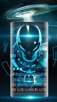 Neon glow Alien space keyboard screenshot 2