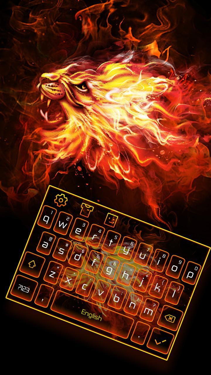 Halo Fire Lion Keyboard Theme cho Android - Tải về APK